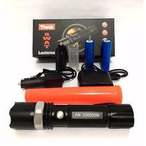 Lanterna Tática Led Swat 250000w Com Bateria E Red Sinalizador - Bcs