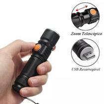 Lanterna Tática Potente Led Recarregável Via Usb - Bnz