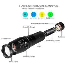 Lanterna Tática X900 Led T6 Bateria Recarregável 26650 - Jp