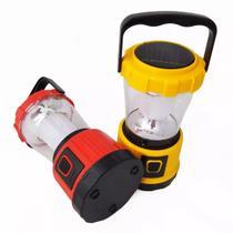 Lanterna Tipo Lampião Recarregável Bivolt e Luz Solar - Monaliza