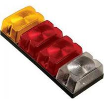 Lanterna traseira 1 lente amarelo 2 vermelho 1 cristal - Sinalsul