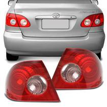 Lanterna Traseira Corolla 02 a 07 Bicolor Rosa Canto -