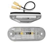 Lanterna Traseira Delimitadora Teto Placa LED CR 12V Ônibus Busscar / Induscar / Mascarello / Caminhão / Van - SILO