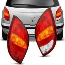 Lanterna Traseira Gm Celta 2000 a 2005 Tricolor Com Luz de Ré Lado Esquerdo -