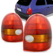 Lanterna Traseira Gm Corsa 2 Portas 1994 a 1999 Tricolor Lado Esquerdo 2007ACR -