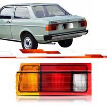 Lanterna traseira voyage 1985 até 1990 le friso preto ré pequena tricolor - Cofran