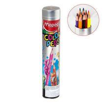 Lapis 12 Cores Color Peps Na Lata Metal 832044 Maped -