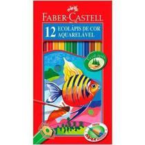 Lápis 12 Cores Ecolápis Aquarelável - Faber-Castell -
