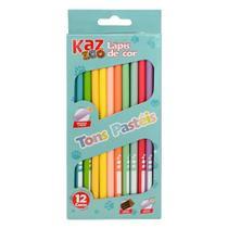 Lapis 12 cores int. madeira redondo pastel kz1921 - Kaz