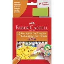 Lapis 12 Cores Jumbo Triangular Mais Apontador Sortido Faber Castell - Faber-Castell