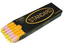 Lápis Amarelo Giz Mágico Marcar Riscar Tecido Molde 12 Unid - Standard