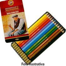 Lápis Aquarela Mondeluz Estojo com 12 Cores Ref.3722 Koh-I-Noor -