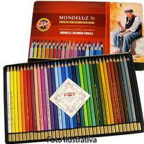 Lápis Aquarela Mondeluz Estojo com 36 Cores Ref.3725 Koh-I-Noor -