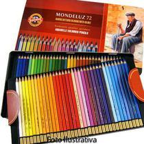 Lápis Aquarela Mondeluz Estojo com 72 Cores Ref3727 Koh-I-Noor -