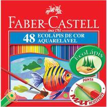 Lápis Aquarela Sextavado Estojo com 48 Cores Ref.120248 Faber-Castell - Faber Castell