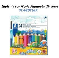 Lápis Aquarelavel 24 Cores Staedtler Noris + Pincel -