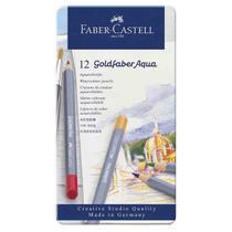 Lapis Aquarelavel Goldfaber Aqua Faber Castell 12 Cores -