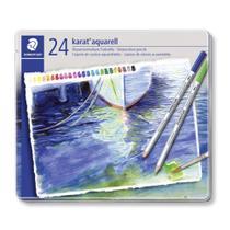 Lápis Aquarelável Staedtler Karat Estojo com 24  125 M24 -