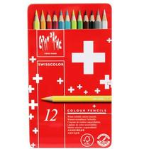 Lápis Aquarelável Swisscolor Caran D'Ache 12 Cores -