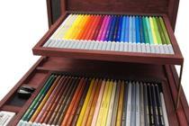 Lápis Carvão Colorido Carbothello Estojo de Madeira com 60 cores Stabilo -