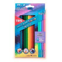 Lápis Cor 12und Mega Soft Color + 4 Tons Pastel Tris - Summit