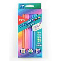 Lápis Cor 12und Mega Soft Color Tons Pastel TRIS - Summit