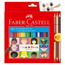 Lapis cor 24+3 caras e cores FABER-CASTELL - Faber -Castell