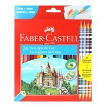 Lapis Cor 24 Cores E 4 Lapis Bicolor - Faber- Castell