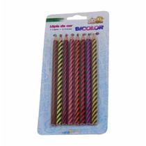 Lapis cor bicolor com 8 lapis 16cores 4201 / 6ct / leonora -