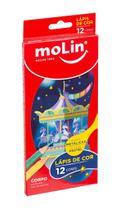 Lapis Cor c/12 cores Molin 6 pastel/6 metalicos -