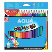 Lapis cor c/24 cores aquarelavel + pincel 836013 / un / maped -
