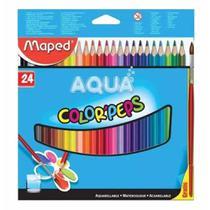 Lapis cor c/24 cores aquarelavel + pincel 836013 / un / maped -