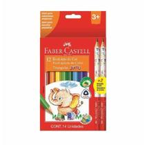 Lapis cor com 12 cores jumbo tria 125012+2 / 6cx / faber -