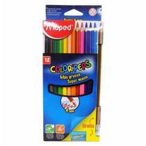 Lapis cor inteiro c/12 cores 4mm lapis+aponontador / un / maped -