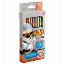 Lapis cor inteiro c/12 cores+apontador star war / un / tris -