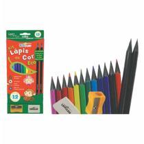 Lapis cor inteiro c/12 cores eco+kit 4317 / 4cx / leonora -