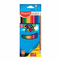 Lapis cor inteiro c/12 cores kit lapis+apontador / un / maped -