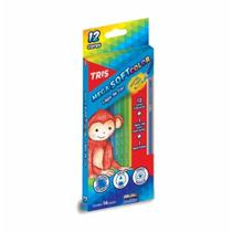 Lapis cor inteiro c/12 cores mega soft col / 6un / tris -
