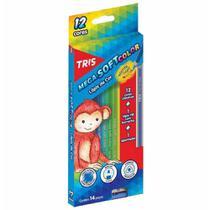 Lapis cor inteiro c/12 cores mega soft col / un / tris -