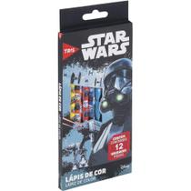 Lapis cor inteiro com 12 cores sextavado star wars 685267 / 6un / tris -