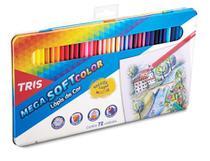 Lapis Cor Mega Soft Color 72 Cores + Estojo Lata - Tris