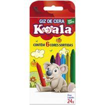 Lapis de Cera Fino 06 Cores Koala - Planeta Criança