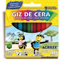 Lapis de Cera Fino 12 Cores (7891153011516) - Planeta Brinquedos