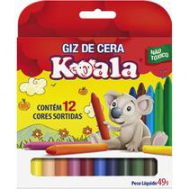 Lapis de Cera Fino 12 Cores Koala (0000000941914) - Planeta Criança