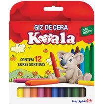 Lapis de Cera Fino 12 Cores Koala - Planeta Criança
