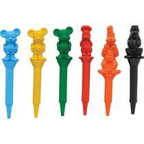 Lapis de Cera Fino Mickey 3D C/6 Cores - Emporio Santa Terezinha