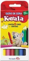 Lapis de Cera Gizao 06 Cores Koala PCT.C/12 Delta -