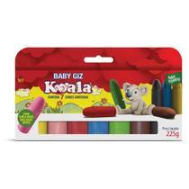 Lapis de Cera Gizao 07 Cores BABY GIZ Koala - Delta