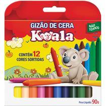 Lapis de Cera Gizao 12 Cores Koala PCT com 12 - Gna
