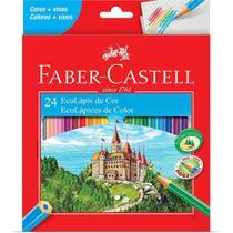 Lápis De Colorir 24 Cores EcoLápis Faber Castell -